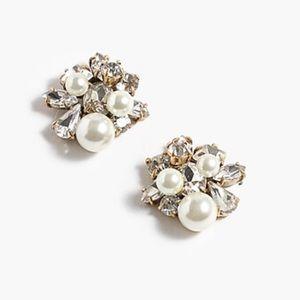 J.Crew NWT Pearl and crystal earrings